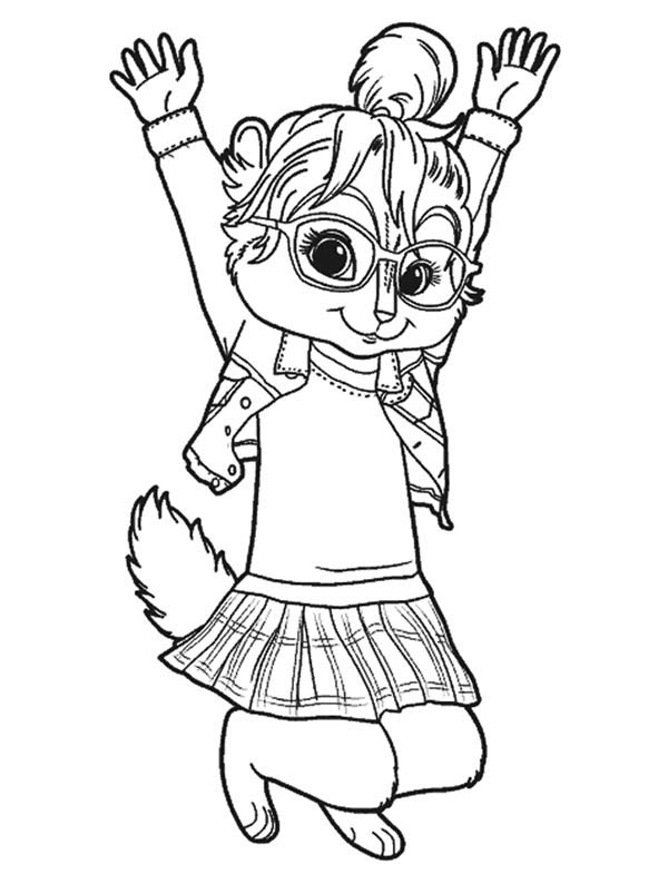 600x785 Brittany The Chipettes Jump Coloring Page