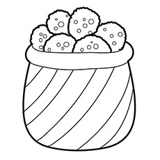 Chips Coloring Page