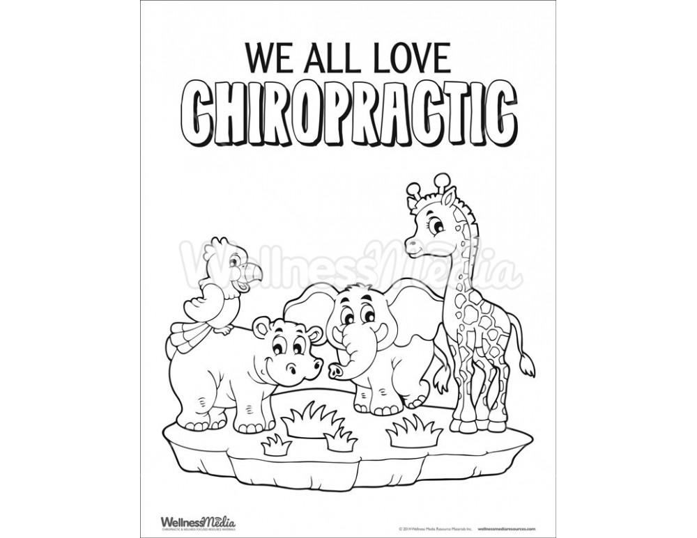 Chiropractic Coloring Pages Free