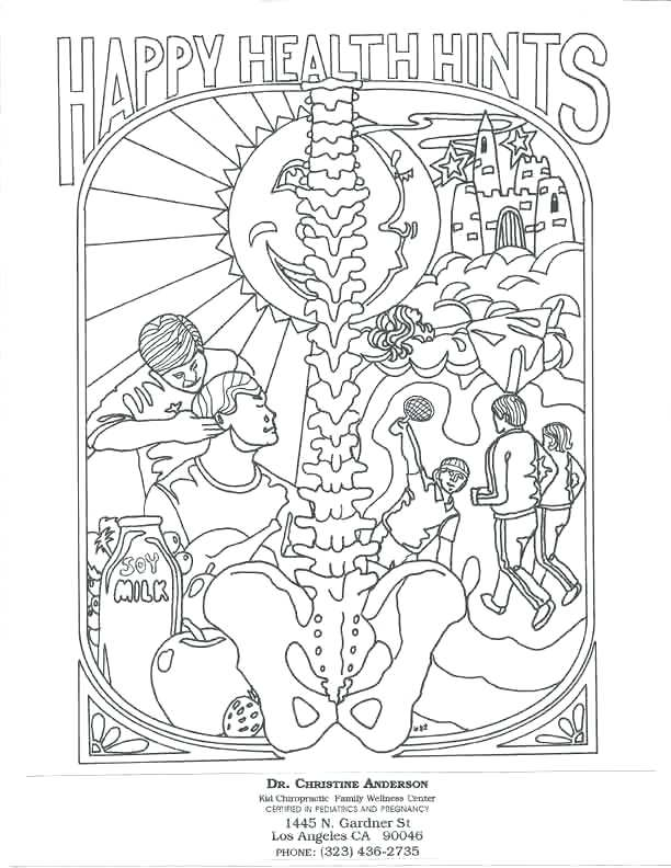 612x792 Chiropractic Coloring Pages Chiropractic Care Colouring Pages