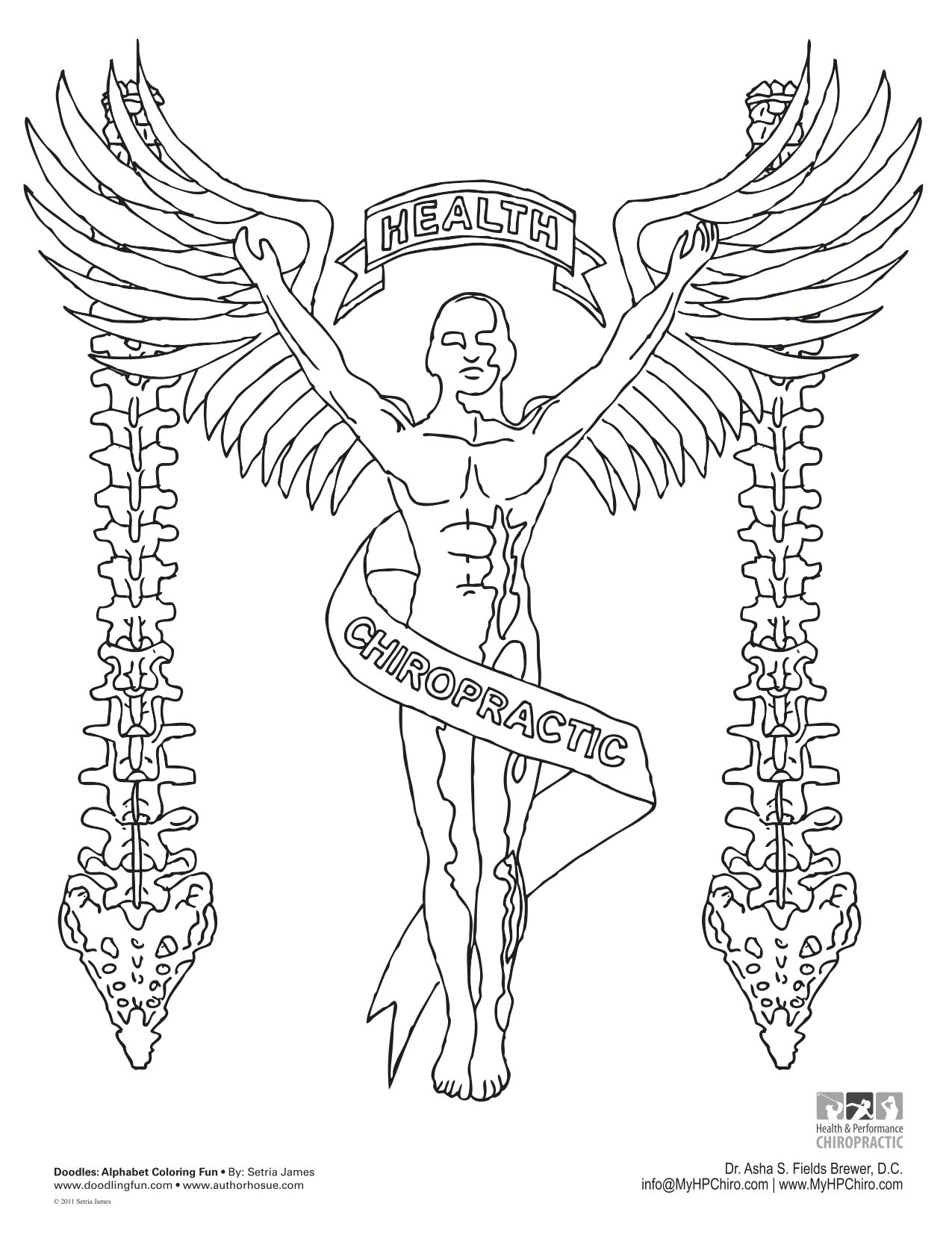 1275x1651 Chiropractic Coloring Pages
