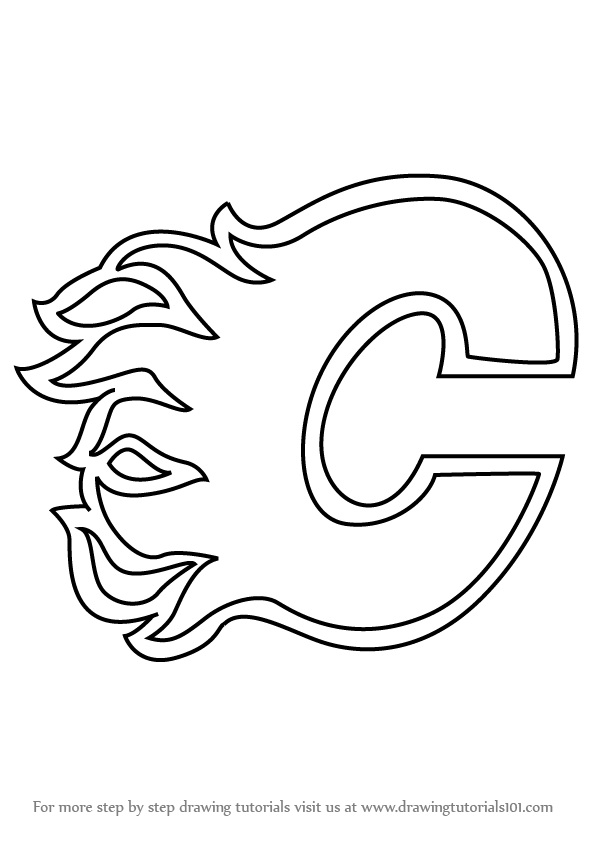 596x842 Calgary Flames Logo Coloring Pages