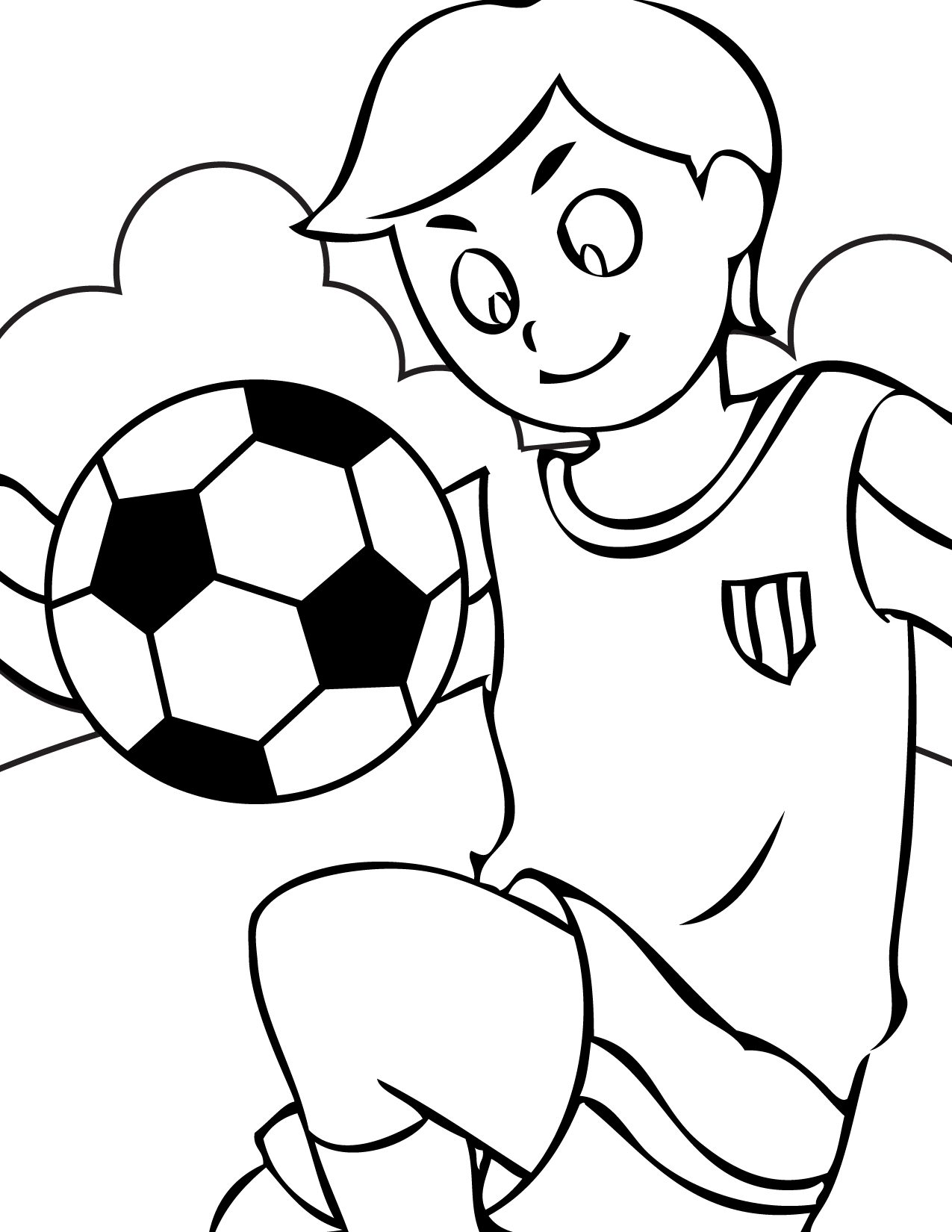1275x1650 Clever Design Soccer Coloring Pages Free