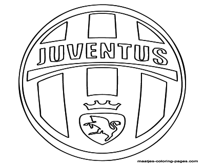 400x322 College Team Logo Coloring Pages Juventus Soccer Page