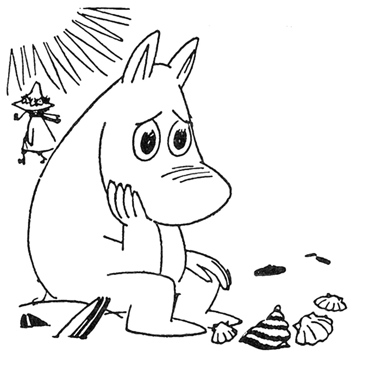 1200x1181 The Moomins Coloring Pages