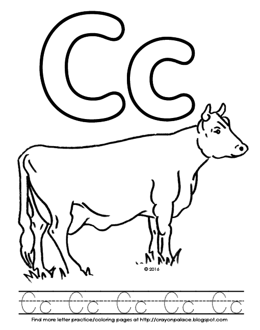 510x646 C Is For Cow Alphabet Coloring Pages Crayon Palace
