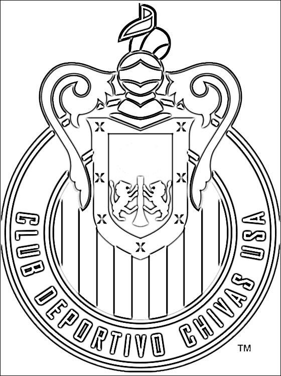 560x750 C D Chivas Usa Logo Coloring Page Coloring Pages
