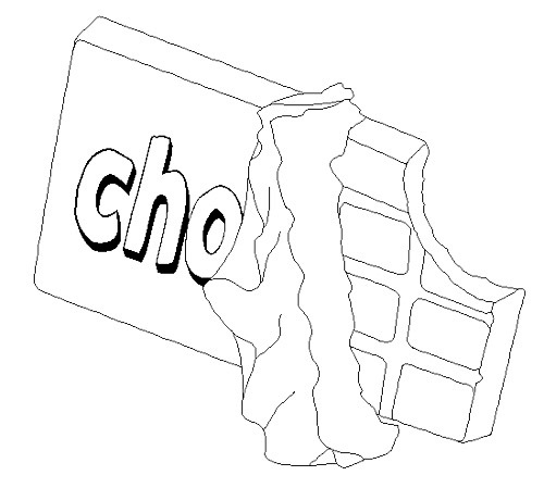 500x449 Chocolate Bar Coloring Pages