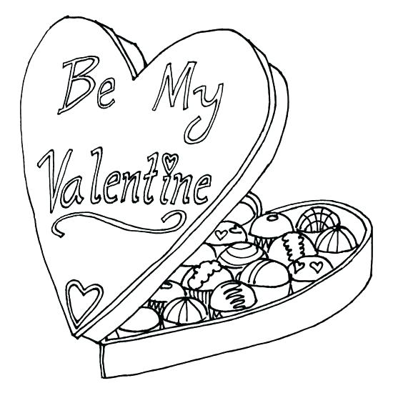 550x550 Chocolate Candy Coloring Pages Chocolate Coloring Valentine