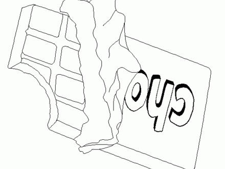 440x330 Colorful Chocolate Bar Coloring Page Vignette