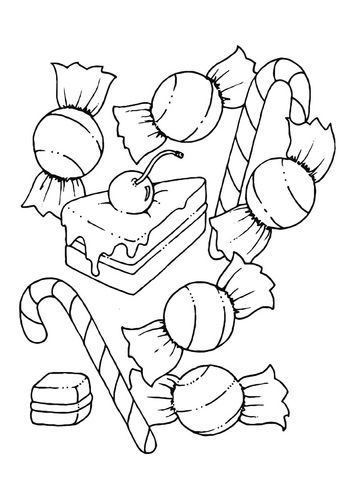 354x500 Coloring Page Candy Daycare Free Coloring Sheets