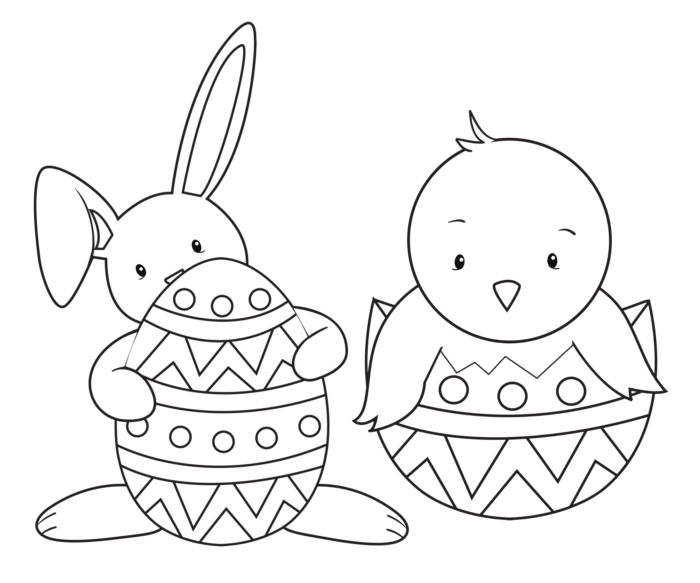 Chocolate Bunny Coloring Pages