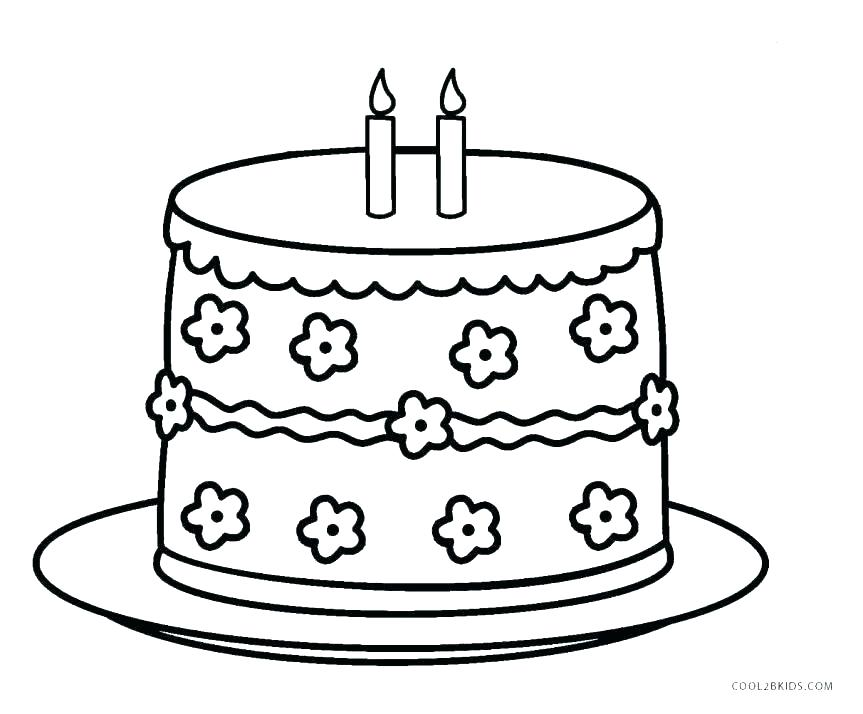 863x714 Birthday Cake Coloring Page Birthday Cake Coloring Pages Images
