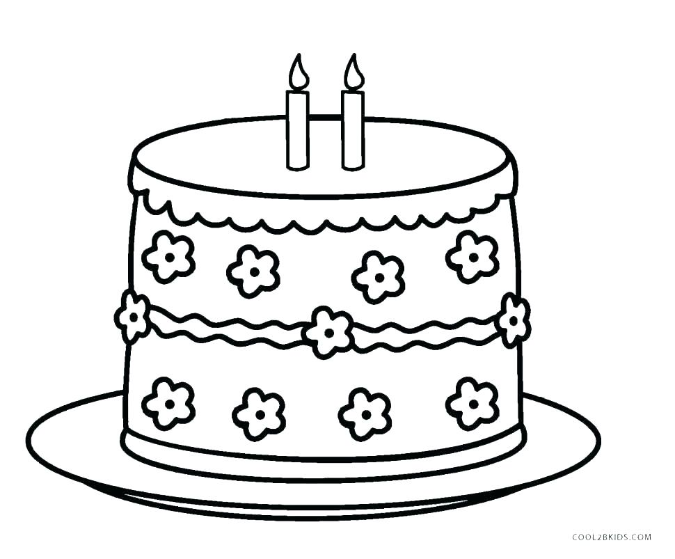 970x803 Cake Coloring Pages One Cherry On Top Of Chocolate Cake Coloring