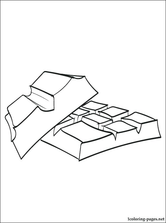 560x750 Chocolate Bar Coloring Page Chocolate Candy Bar Coloring Pages