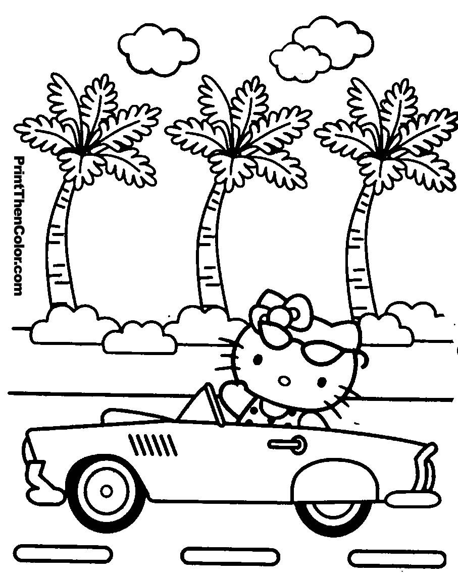 907x1160 Hello Kitty Coloring Pages To Print Printables