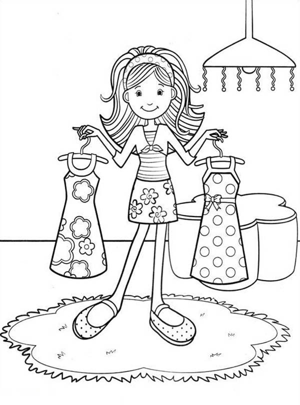600x810 Groovy Girls Choosing The Right Outfit Coloring Pages Batch Coloring