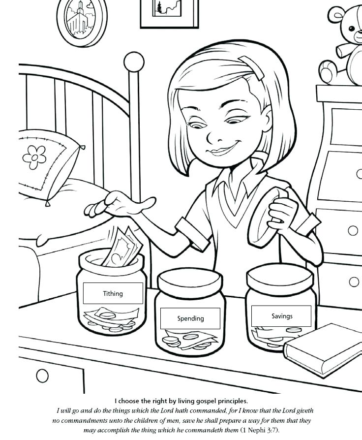736x894 Choose The Right Coloring Page