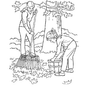 Chores Coloring Pages
