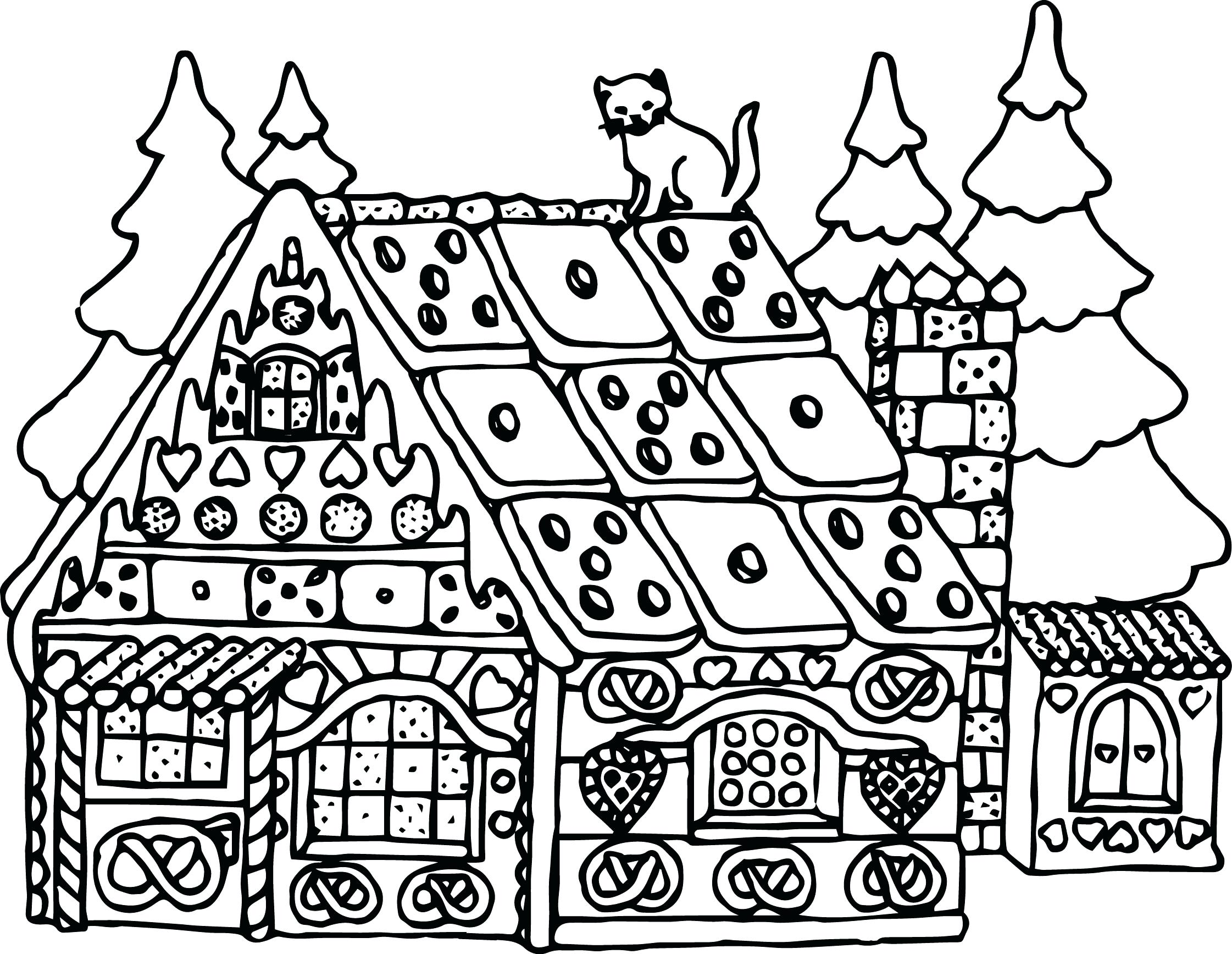 2242x1735 Coloring Pages Household Items Mesmerizing Houses Free House