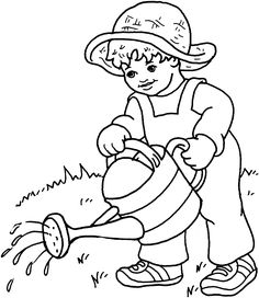 236x272 Farm Work And Chores Coloring Pages Printable Boy Feeding