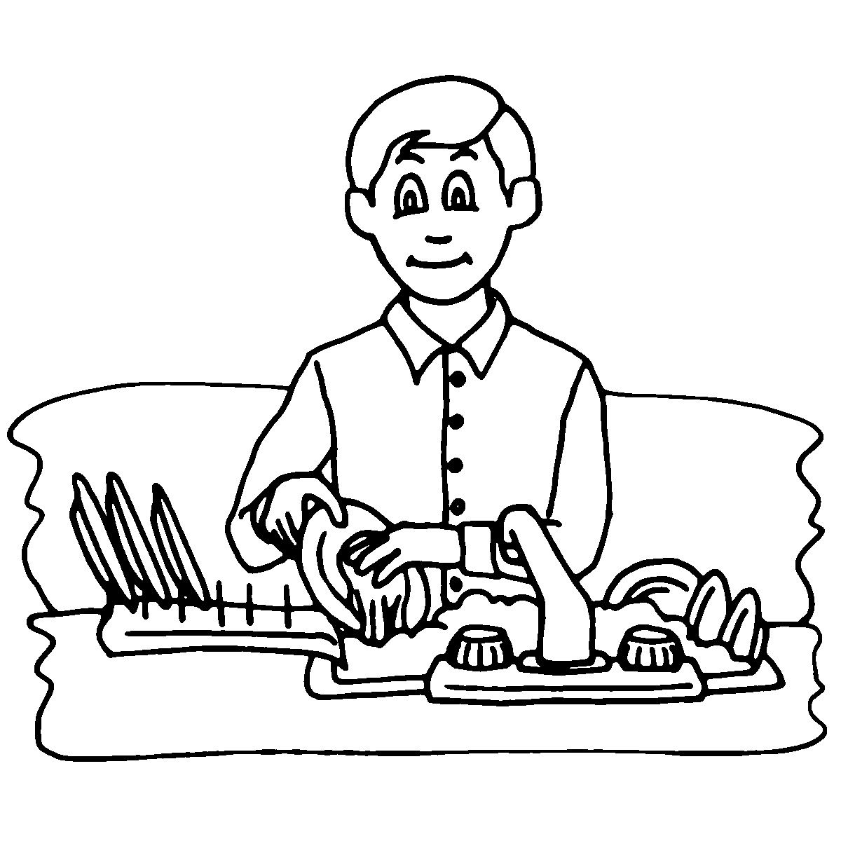 1200x1200 Rare Kids Doing Chores Coloring Pages Free
