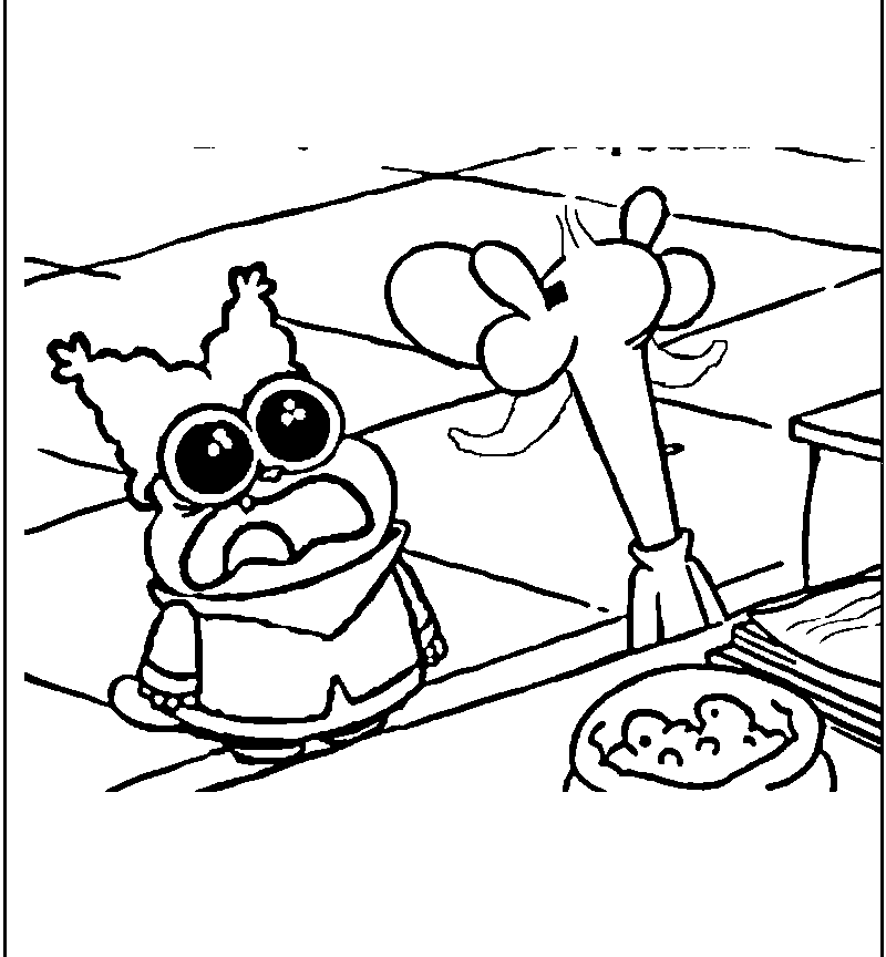 Chowder Coloring Pages At Getdrawings Free Download