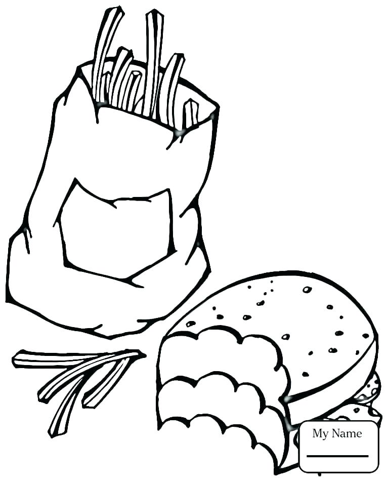 765x952 French Fries Coloring Page Coloring Pages French Fries Coloring