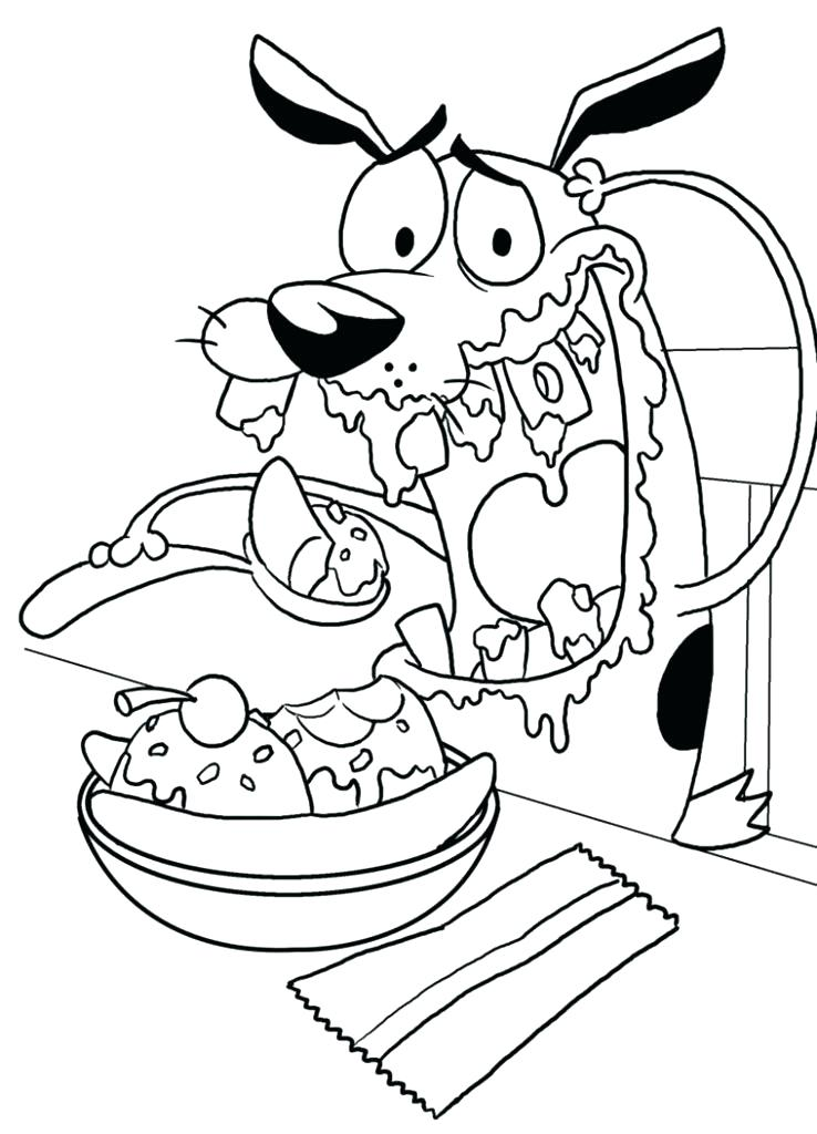 738x1024 K Coloring Pages Chowder Coloring Pages To Print Courage