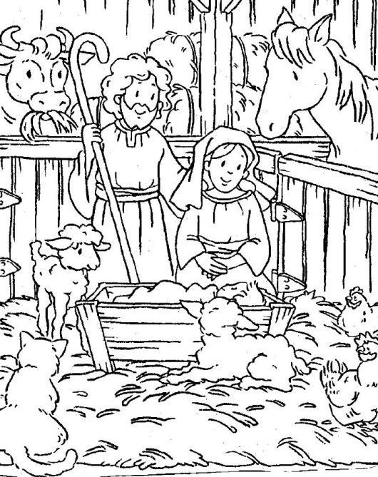 Christian Christmas Coloring Pages For Kids Printable