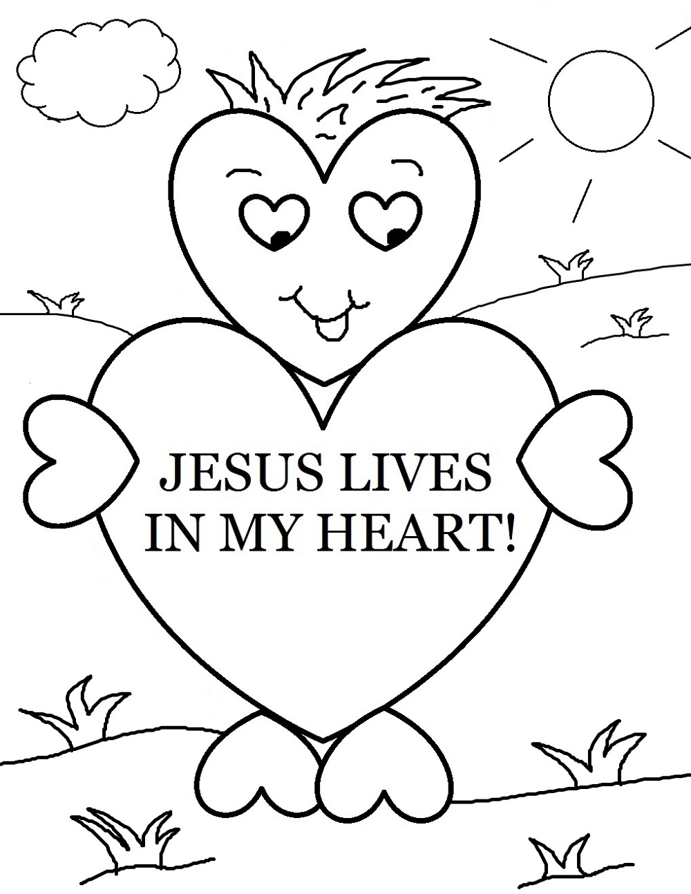 1000x1294 Christian Coloring Pages Preschool Learning Printable