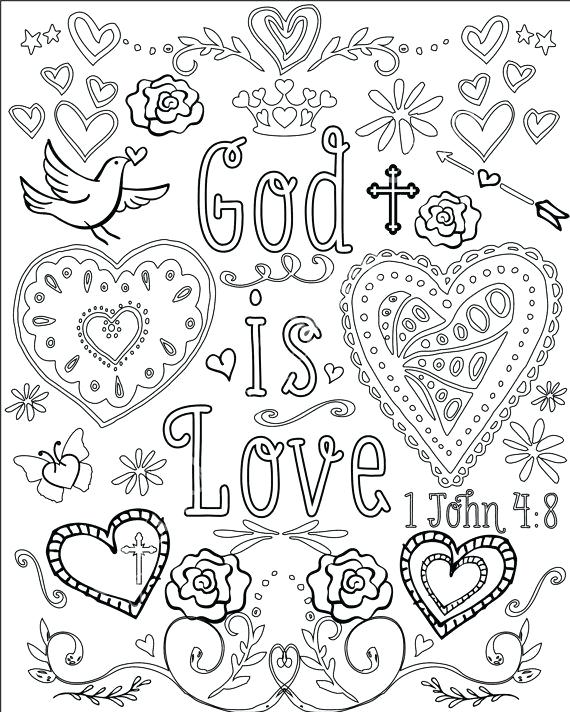 570x712 Christian Colouring Pages Christian Coloring Pages With Verses