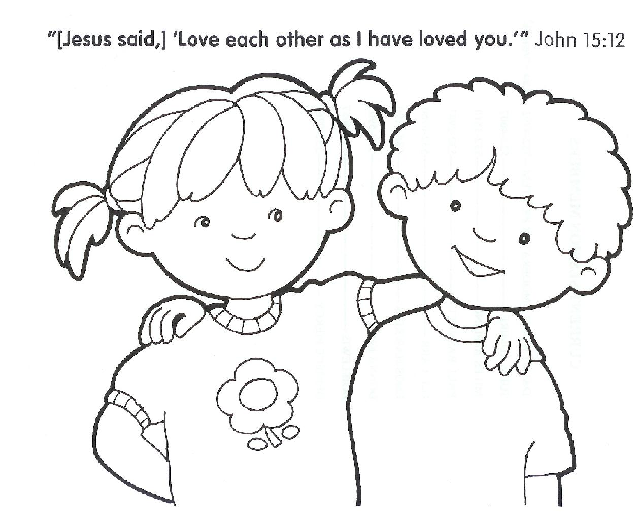 Christian Coloring Pages For Kids at GetDrawings.com | Free for ...