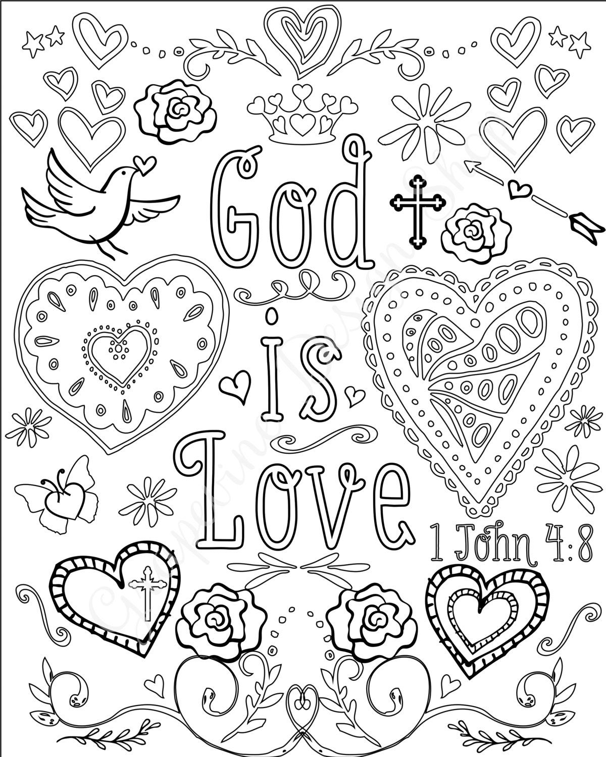 1200x1500 Bible Verse Coloring Pages Set Of Instant Download Printable