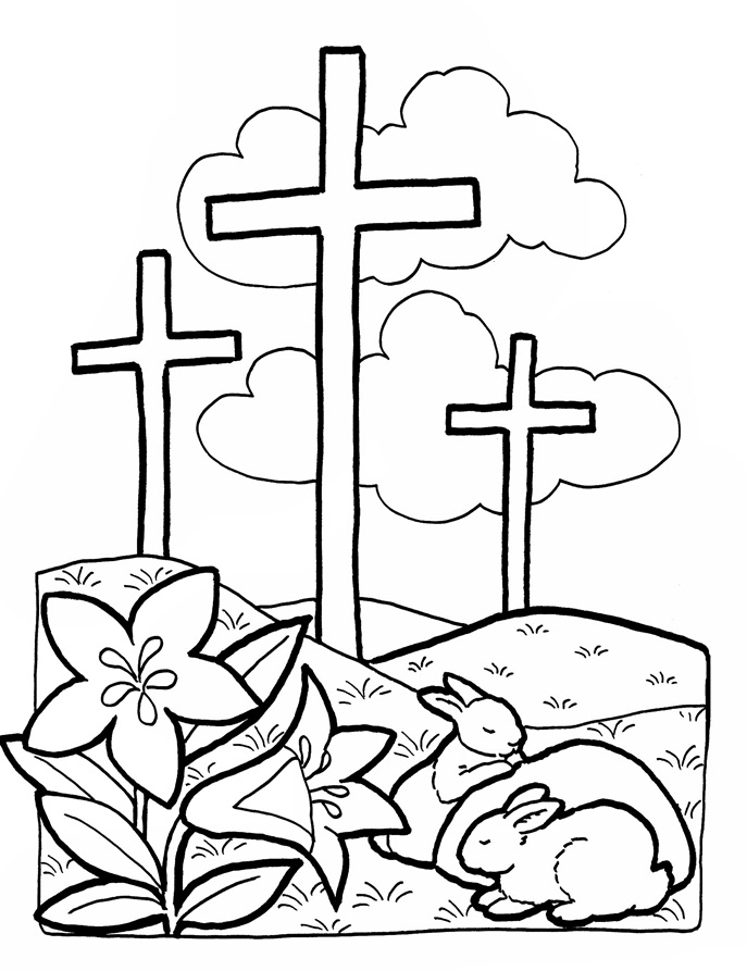 687x893 Free Printable Easter Coloring Pages Religious Free Religious