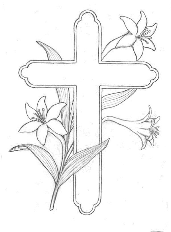 600x814 Easter Coloring Pages Free Printable Religious Easter Borders Free