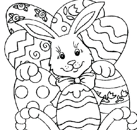 570x543 Christian Easter Coloring Pages Free Printable Good C On Kids