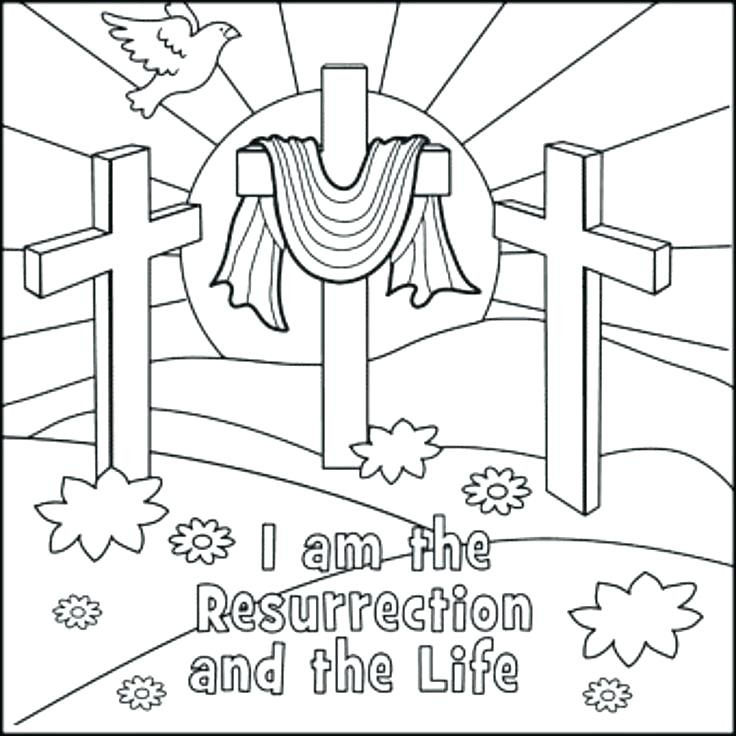 736x736 Christian Easter Coloring Pages To Print Christian Coloring Pages