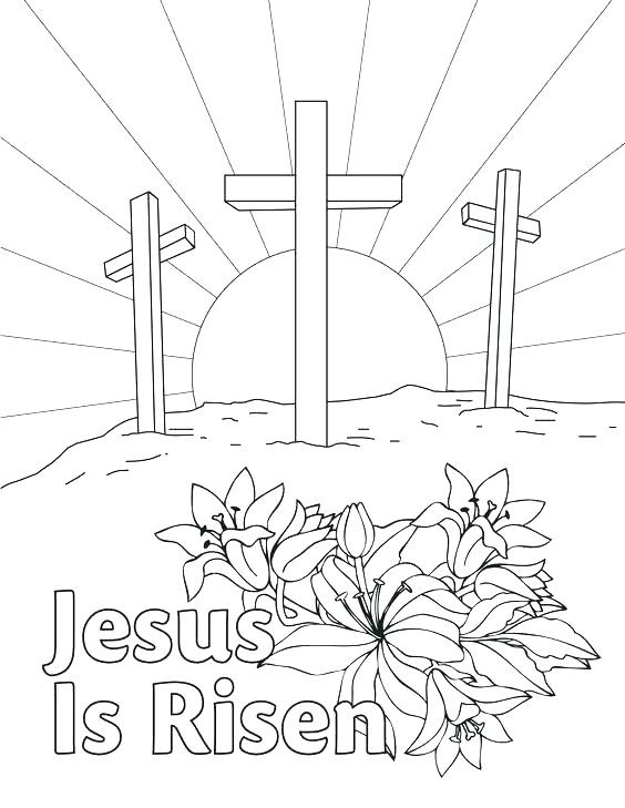 564x729 Lovely Preschool Religious Easter Coloring Pages Printable Free
