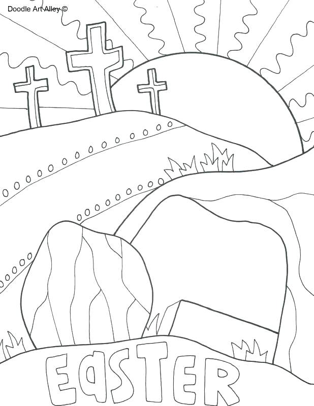 Free Christian Easter Coloring Pages To Print All Round Hobby