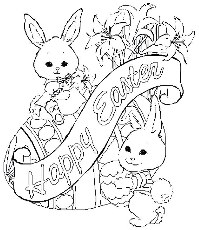 650x750 Easter Coloring Pages Printable Free