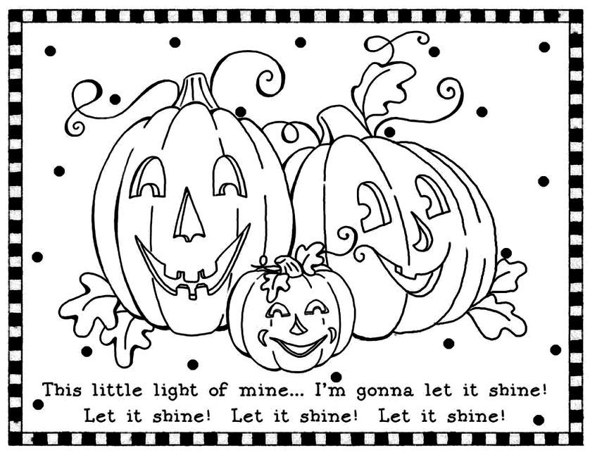 Christian Halloween Coloring Pages - Coloring Home | 646x838