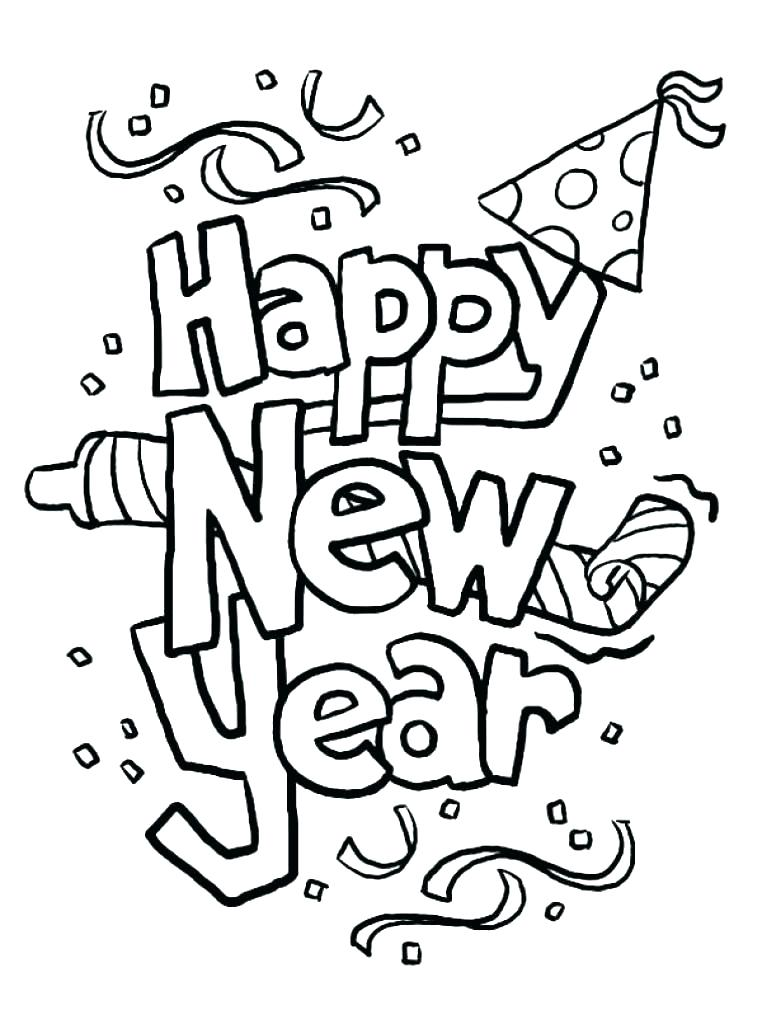 762x1024 Happy New Year Coloring Pages Happy New Year Coloring Page