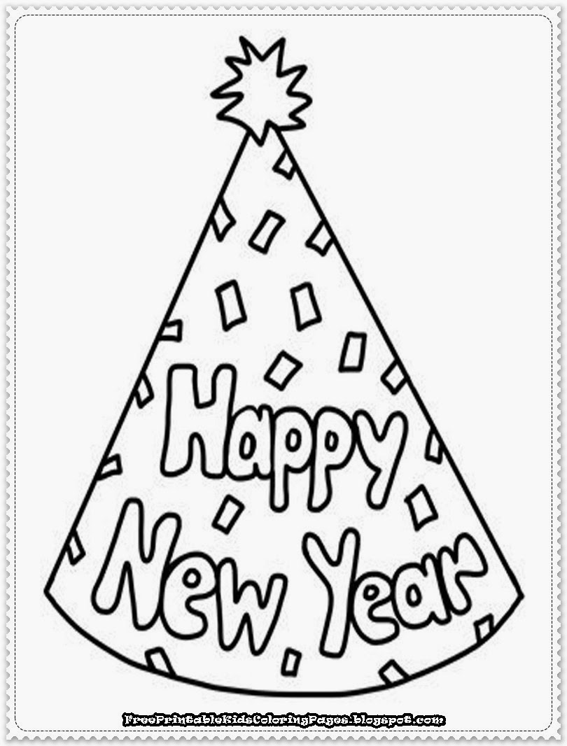 810x1066 Happy New Year Coloring Sheets Merry Christmas Happy New Year