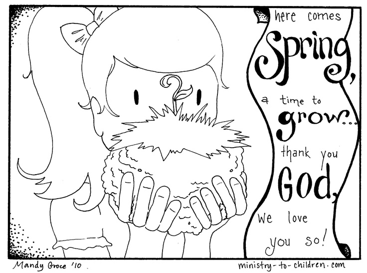 Christian Spring Coloring Pages