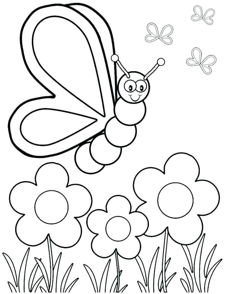 728x950 Free Spring Coloring Pages Spring Coloring Pages For Preschoolers