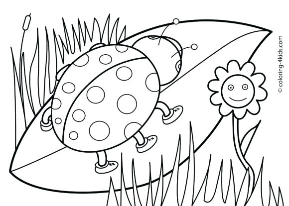580x414 Free Spring Coloring Pages X Free Printable Spring Coloring Pages