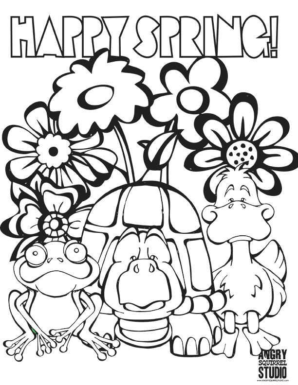 612x792 Spring Color Sheet Free Coloring Pages Happy Spring Colouring
