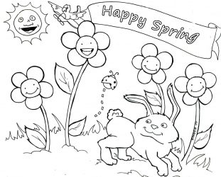 311x250 Spring Coloring Pages For Preschoolers Coloring Pages For Spring