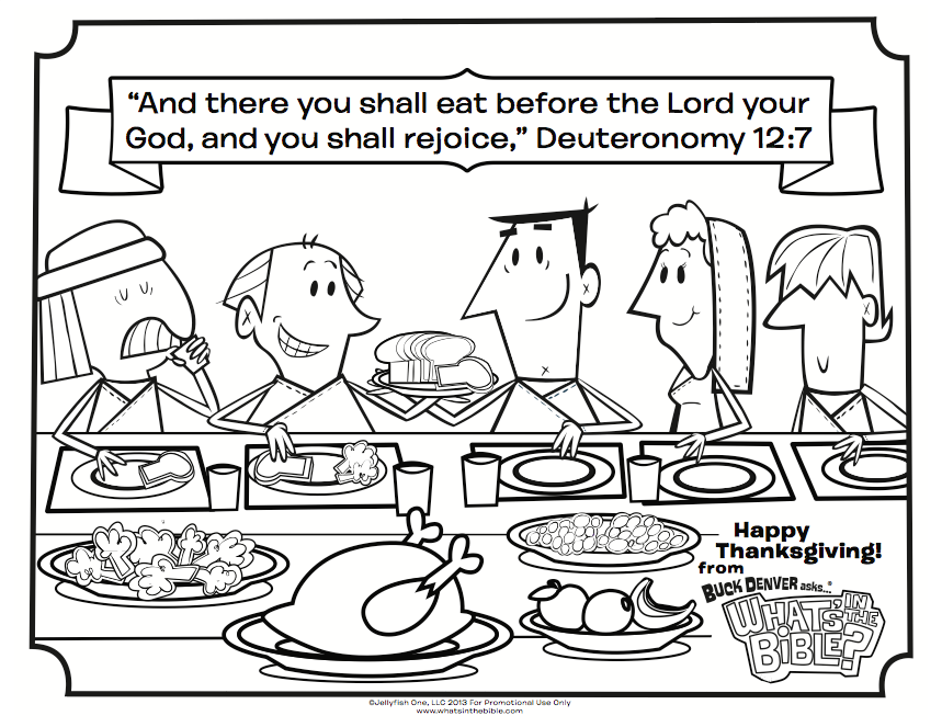 859x663 Thanksgiving Coloring Page